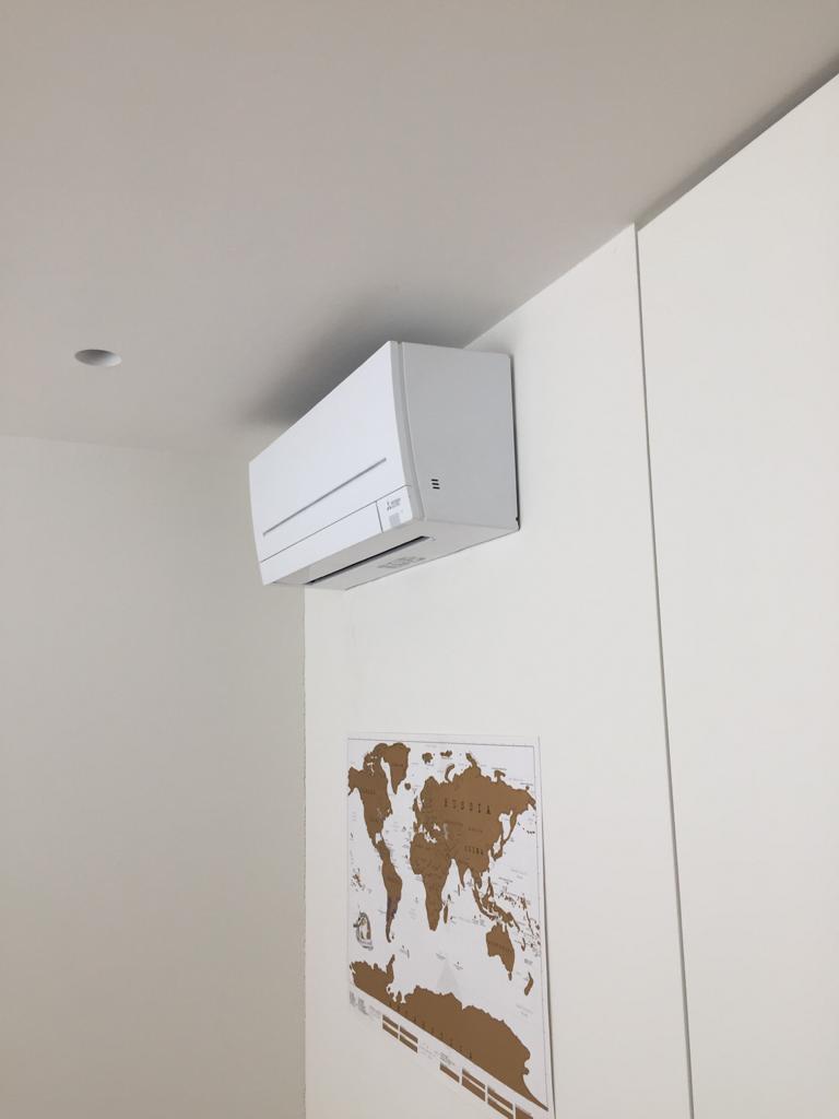 Door ons geïnstalleerde airco in slaapkamer
