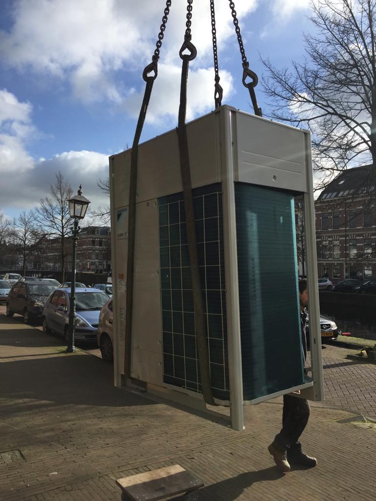 Installatie VRV buitenunit voor een kantoor in Haarlem