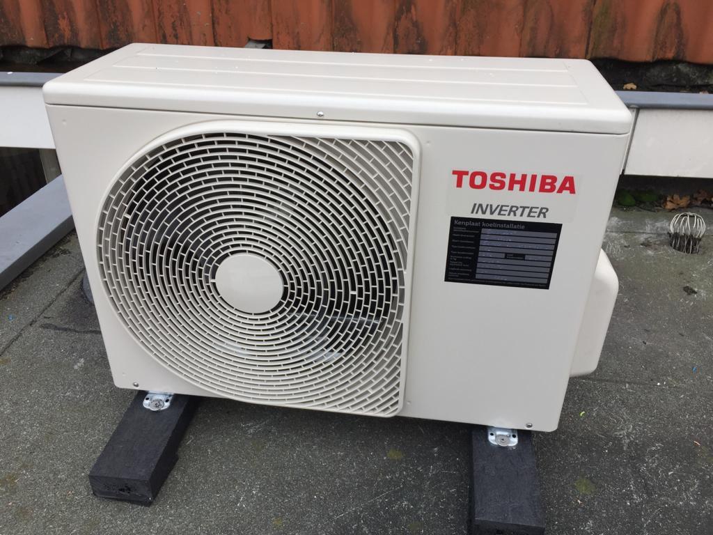 Voorbeeld van de Toshiba airconditioner - complete installatie vanaf € 1699,- incl. btw